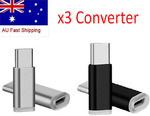3PCS at $4.45, 2PCS at $3.45, 1PCS at $2.45 Aluminium (Silver or Black) Micro USB to USB-C Type-C Adapter from Melbourne