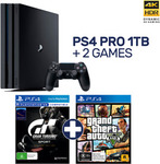 PlayStation 4 PRO + Gran Turismo Sport + Grand Theft Auto V - $479 Delivered @ EB Games eBay