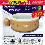 Bestway Palm Springs Inflatable Hot Tub / Spa - Large Size (196x71cm, 963L) - $512 Delivered @ Outbax Camping on eBay