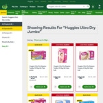 Huggies Ultra Dry Nappy Jumbo Box $23.95 at Woolworths