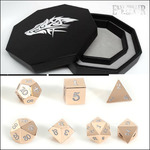 Win 1 of 2 Rose Gold Dice Set + Wolf Dice Tray Combo, worth ~ $190 from Easy Roller Dice