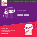 Virgin Mobile 20% off - 12M SIM Only