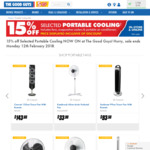 15% off Selected Portable Cooling @ The Good Guys