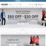 Free Standard Delivery at Myer until Monday 19th Feb (Usually $100 Spend)