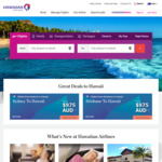 10% off Flights to Hawaii and US Mainland from Sydney or Brisbane Via Hawaiian Airlines