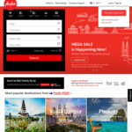 AirAsia Megasale: e.g. Sydney to Kuala Lumpur Return $255