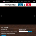 Domino's: Traditional Pizzas $7.95 Pickup, $12.95 Delivered