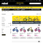 Kids 30cm Balance Bike $35.99 Four Colour Options (Blue, Grey/Mint, Purple/Pink, Yellow) Free C&C or + Postage @ Rebel Sport