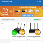 10% off on All TP Link Products + Up to $50 Woolworths eGift Card on Selected Products e.g. VR900 $198 & Bonus $50 @ Wireless1