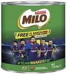 Milo 1.25kg $11 at Coles ($0.88 Per 100g)