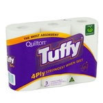 ½ Price Quilton Tuffy 4ply Paper Towels 3pk $2.15 @ Woolworths