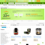 22% off Sports Products, 52% off Certain Items (Restrictions Apply) @ iHerb