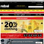 Minimum 20% off RRP Storewide @ rebel (In Store & Online)