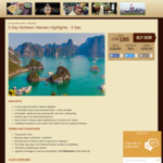 5 Day Northern Vietnam Highlights (3 Star) US $185 (~AU $257) @ Orientalcolours