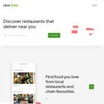 UberEATS $5 off 3 Orders before Thursday 27 December