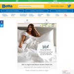 Win a Logan & Mason Sateen Egyptian Cotton Queen Sheet Set Worth $179.95 from Betta