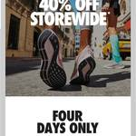 [VIC, NSW, ACT, QLD] 40% off Storewide @ Nike Factory Outlet (Eg. DFO Southwharf, Melbourne)