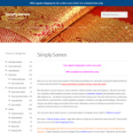 Free Regular Shipping for ALL Orders over $100 @ Simply Sarees