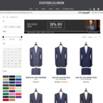 30% off New Season Menswear - Suits, Jackets, Shirts, Outerwear @ Stafford Ellinson