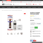 Aerobie Aeropress Coffee Maker Complete Bundle - $104.95 + FREE Shipping @ Alternative Brewing