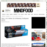 Win 1 of 5 White Glo Whitening Toothpaste Packs Worth $46.95 from MiNDFOOD