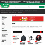 20% off Clearance Items + $9.95 Delivery (Free for Order over $99 except Bulky Items) @ Peter Stevens Motorcycle