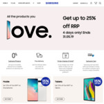 Up to 25% off RRP on Selected Items & Free Delivery @ Samsung Australia