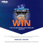 Win 1 of 3 $1,000 Flight Centre Vouchers from Gillette