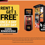 Rent 1 Get 1 Free - Once a Day Every Day until 21st June @ Video Ezy Express Kiosks