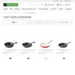 60% off Smith & Nobel Raw Cast Iron Cookware (Skillets, Frypans, Grill and Casserole) @ Harris Scarfe