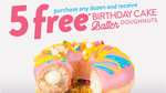 [SA] Buy Any Dozen Doughnuts (From $19.95) & Receive 5 Free Birthday Cake Batter Doughnuts @ Krispy Kreme