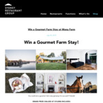 Win a Gourmet Farm Stay at Mona Farm for 10 Worth $10,850 from Sydney Restaurant Group