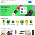5% off All Eligible Items (No Min Spend) @ eBay