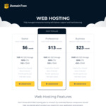 Free .com Domain with 12 Months of Webhosting (from $72/Year) @ DomainTron