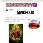 Win 1 of 10 Family Passes to Dora and the Lost City of Gold Worth $80 from MiNDFOOD