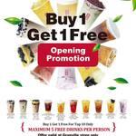 [NSW] Buy 1, Get 1 Free (Top Ten Only) @ Gong Cha Tea, Granville