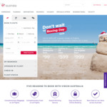 Virgin Australia 10% off Business, Premium Economy and Economy Flights (Excludes Sale Fares, 20 Day Advance Purchase)