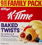 Kellogg's K-Time Baked Twists Strawberry & Blueberry 9 Bars Pack (Total 333g) $5.45 (Min Qty 2) + Post ($0 Prime/ $39) @ Amazon