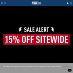 15% off Sitewide @ NBA Store
