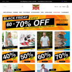 Black Friday Sale: 40-70% off Online (Free Shipping over $50 This Weekend) @ Rivers Australia
