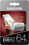 Samsung EVO Plus Micro SD 64GB - 2 for $15.98 + Delivery ($0 eBay Plus) @ FFT eBay
