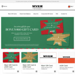 Bonus $10 Gift Card When You Spend $100 on Myer Gift Cards @ Myer Online or in Store