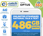 Catch Connect 365 Day Mobile Plan - 486GB $283.59 (Club Catch and UNiDAYS Required) @ Catch