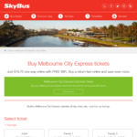 10% off Melbourne City Express Fares via Skybus APP from $16.20