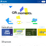 20% off Catch Gift Cards, 20% off Best Restaurants Gift Cards via PayPal Digital Gifts