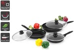 Ovela 6 Piece BlackStone Non-Stick Induction Frypan Set $15.99 + Delivery ($0 with  First) @ Kogan
