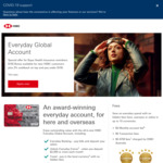 Everyday Global Account 2% Cashback on Tap & Pay Under $100 + $150 Joining Bonus for Bupa Customers @ HSBC (New Customers)