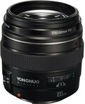 Yongnuo 100mm f2 Lens for Canon EF $218 Delivered (HK) @ TobyDeals