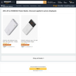 Romoss Type-C USB PD & QC 3.0 18W 30000mAh $33.00, 20000mAh $26.24 + Delivery ($0 with Prime/ $39 Spend) @ Romoss Amazon AU