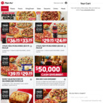 3 Pizzas + 3 Sides $35.95 (Pick up/Delivered) @ Pizza Hut
